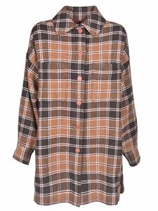 See by Chloé - Checked shirt in shades of brown