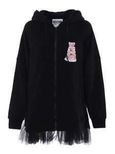 Moschino - Cake Teddy Bear logo hoodie in black