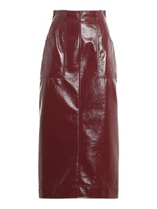 Philosophy di Lorenzo Serafini - Faux leather high waist skirt in red