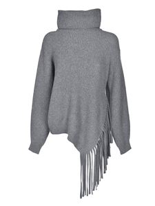 Stella McCartney - Fringes sweater in melange grey