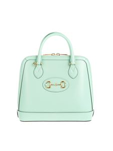 Gucci - Gucci Horsebit 1955 medium handbag in pastel green
