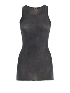 Avant Toi - Cashmere and silk blend tank top in grey