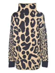 Stella McCartney - Leopard print sweater in beige and black