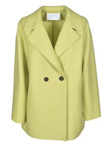 Harris Wharf London - Double-breasted coat in lime color