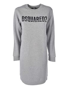 Dsquared2 - Branded fleece dress in grey