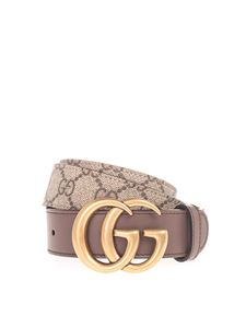 Gucci - GG belt in beige and brown