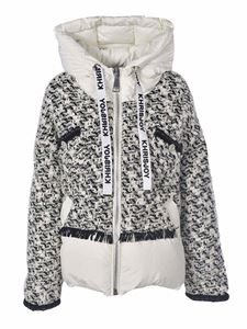 Khrisjoy - Down jacket in white with buclé insert