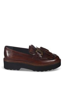 Tod's - Tassels and logo loafers in brown