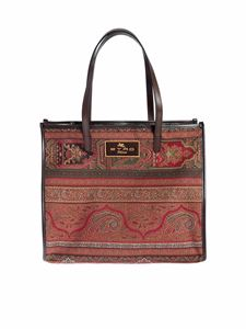 Etro - Red tote bag with cashmere motif