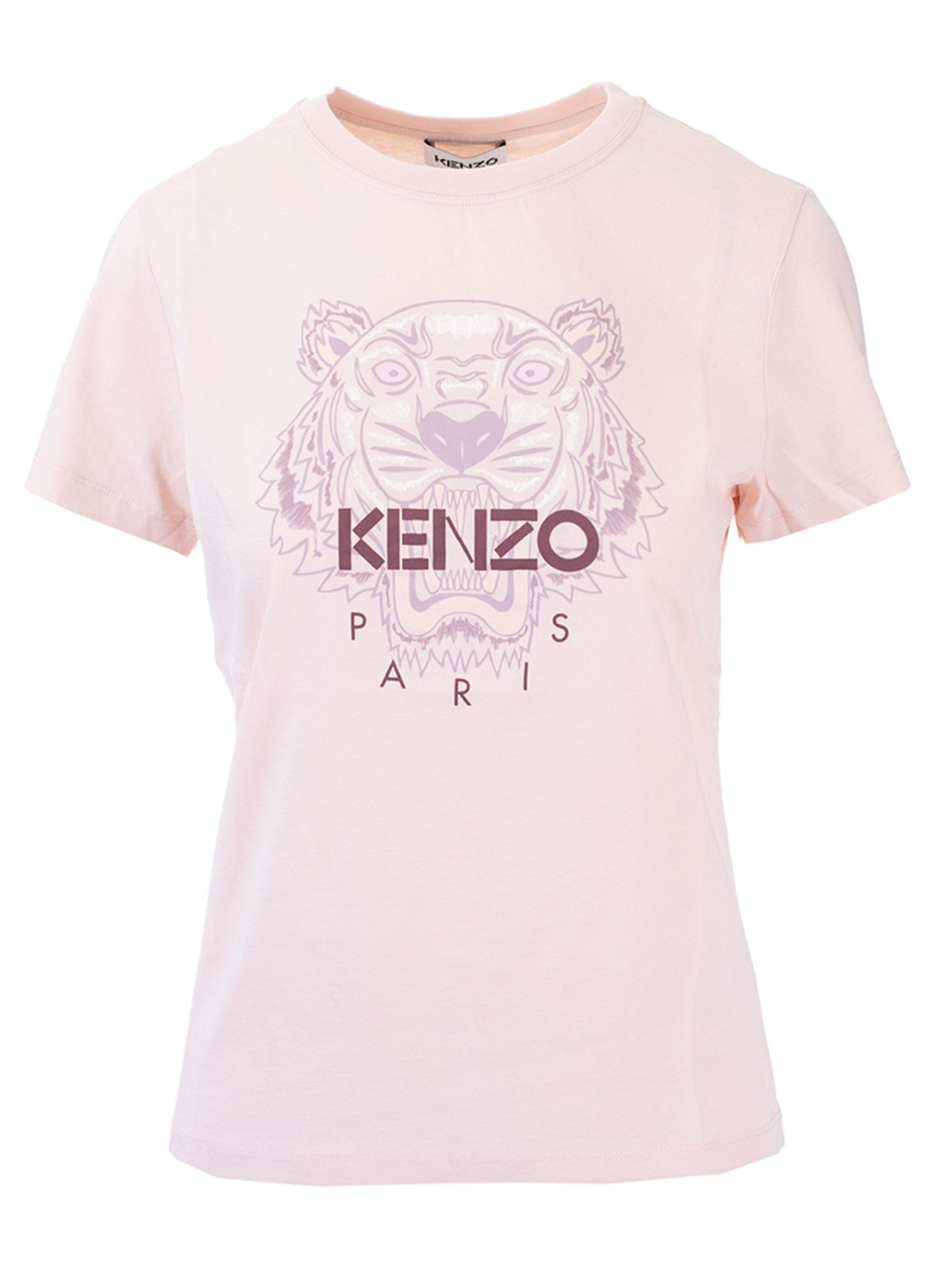 Kenzo TIGER T-SHIRT IN FADED PINK