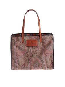 Etro - Green tote bag with Paisley pattern