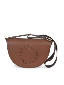 Stella McCartney - Punched logo Marlee bag in brown