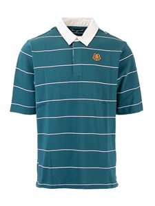 Kenzo - Polo a righe Tiger Crest verde