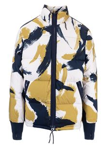 Kenzo - Color block down jacket in white blue and yellow
