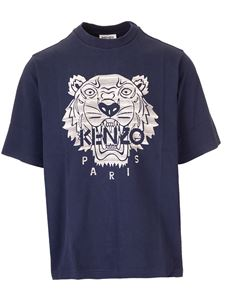 Kenzo - Tiger embroidered t-shirt in blue