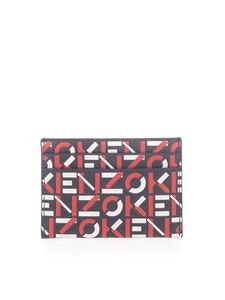 Kenzo - Kenzo monogram leather card holder in red