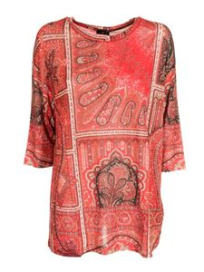 Etro - Red blouse with paisley print