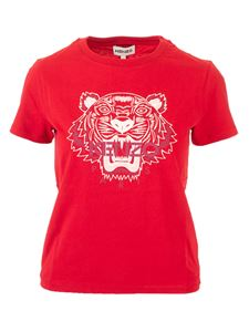 Kenzo - Tiger T-shirt in cherry red