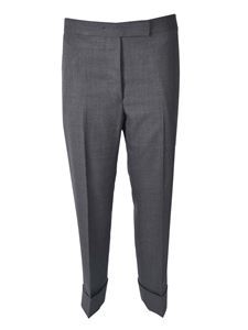 Thom Browne - Classic Backstrap pants in grey