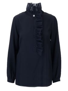 Gucci - Silk blouse with rouches in black