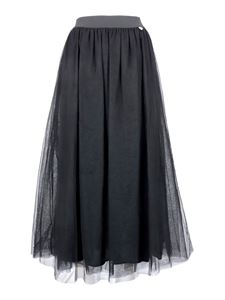 Twin-Set - Gonna midi in tulle nero