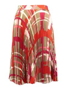 Twin-Set - Patterned accordion skirt multicolour