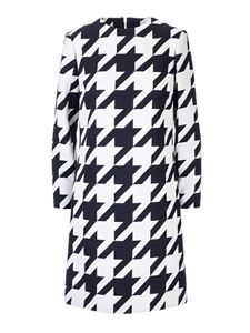 Gucci - Silk and wool houndstooth dress in black and white