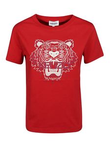 Kenzo - T-shirt con stampa  Tiger rossa
