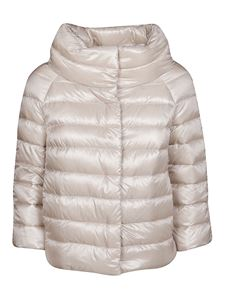 Herno - Sofia light beige nylon padded jacket