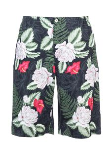 Gucci - Hawaiian print shorts in black green and red