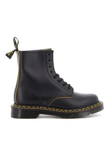 Dr. Martens - 1460DS Smooth Slice ankle boots in black
