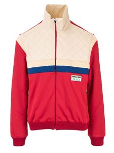 Gucci - Gucci jacket in technical jersey in red and beige
