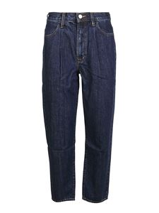 J Brand - Jeans Pleated Peg blu