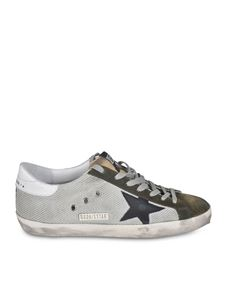 Golden Goose - Superstar Classic sneakers in green and silver