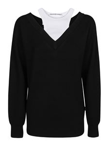 Alexander Wang - Off-the-shoulder merino wool jumper in black