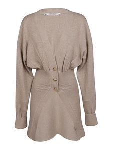 Alexander Wang - Oversized wool cardigan in beige