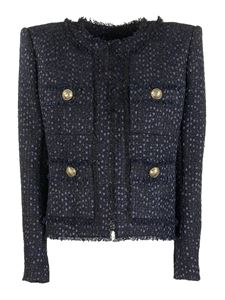 Balmain - Giacca in tweed blu