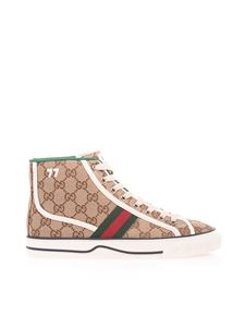 Gucci - Gucci Tennis 1977 high sneakers in beige