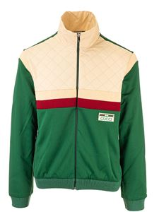 Gucci - Gucci jacket in technical jersey in green and beige