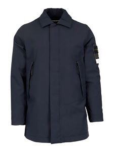 Stone Island - Tech fabric jacket in blue