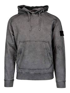 Stone Island - Cotton hoodie in grey
