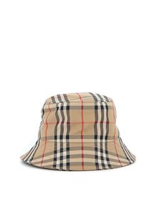 Burberry - Vintage Check print bucket hat in beige