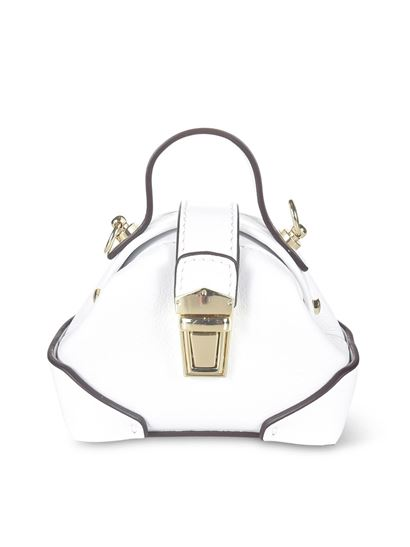 Manu Atelier - Micro Demi bag in white