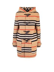 Burberry - Doubleface duffle coat with striped pattern