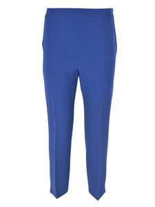 Max Mara - Kerry pants in blue featuring vents on the bottom