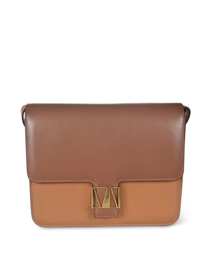 Manu Atelier - Roxy leather bag in brown and camel color