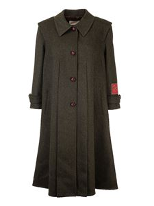 Gucci - Aplaca wool coat in military green