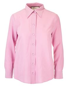 Gucci - Silk crepe de chine shirt in pink