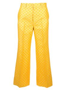 Gucci - GG lamé wide-leg pants in yellow