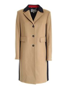 Tommy Icons - Iconic Classic coat in blue and camel color